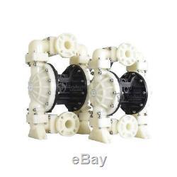 Teflon Double Diaphragm Pump 15GPM, Air-Operated Membrane Pump, 3/8in. Air Inlet
