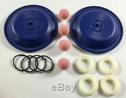 Teflon Double Diaphragm Wet End Kit for a 1/4 or 3/8 Air Diaphragm Pump