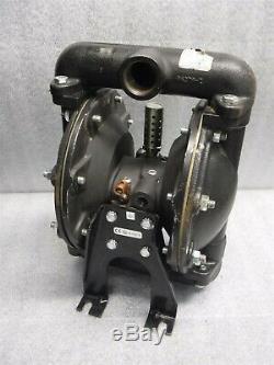 Used Aro 1 Air Diaphragm Pump 666102-2EB-C Cast Iron Body Santoprene 2F