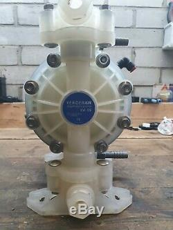 Verder Air Operated Chemical Pump 1 Inch Double Diaphragm VA 15 Non Metallic