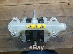 Verder Air Operated Chemical Pump 1 Inch Double Diaphragm VA 15 Non Metallic