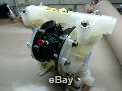 Verder Air Operated Chemical Pump 1 Inch Double Diaphragm VA 25 Non Metallic