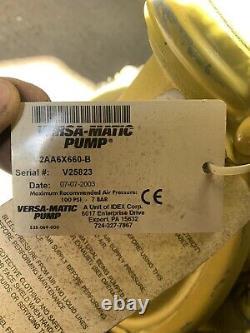 Versa Matic Diaphragm Compressed Air Pump