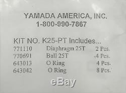 Yamada K25-PT Air Operated Double Diaphragm Pump Service and Repair Kit